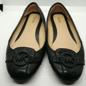 Michael Kors Fulton Moc ballet shoes black sz 10